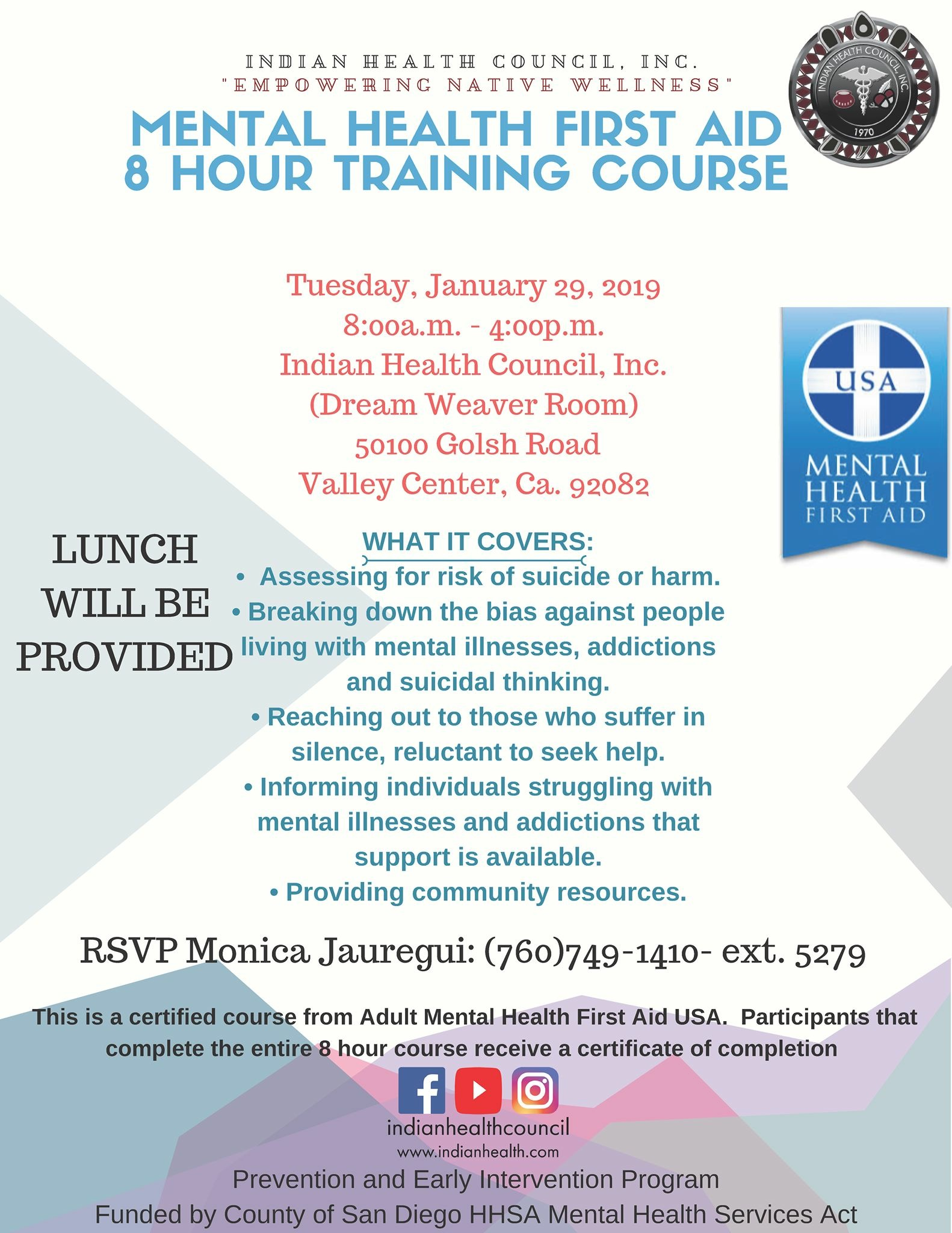 Mental Health First Aid Training Course Sctca