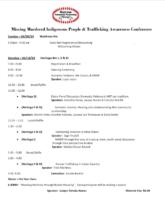MMIW Conference Agenda pg.1