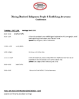MMIW Conference Agenda pg.2